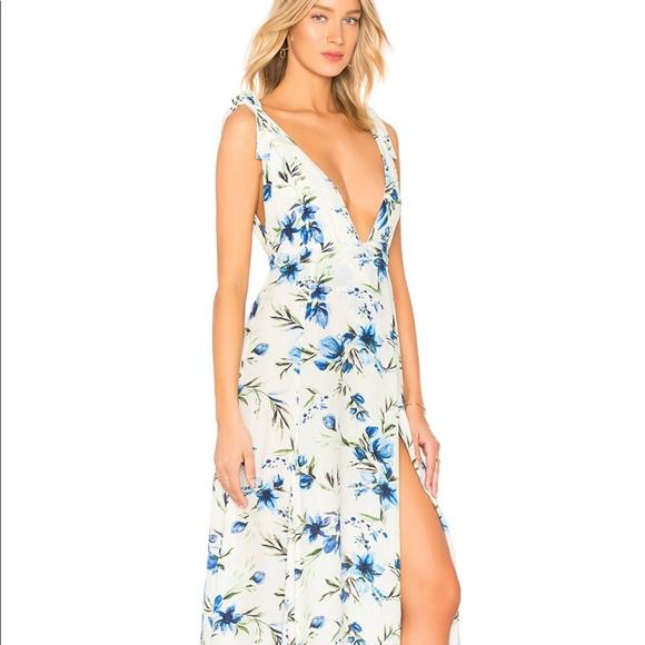cc07e41579 Beach Riot Dresses | Nwt Blue White Green Floral Maxi Dress | Poshmark